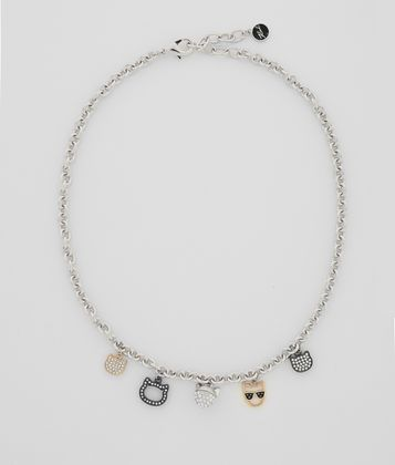 KARL LAGERFELD CHOUPETTE MULTI-CHARM NECKLACE