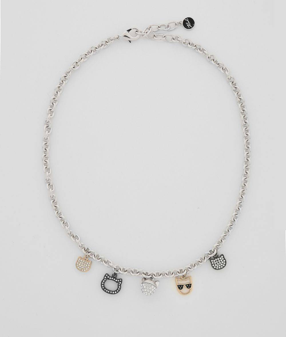 KARL LAGERFELD Choupette Multi-Charm Necklace Necklace Woman f