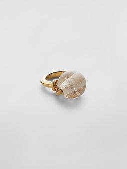 Marni Ring in brass and glass Woman