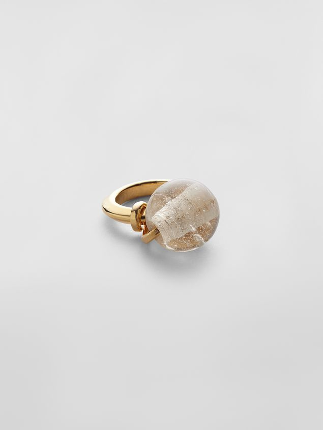 Marni Ring in brass and glass Woman - 1