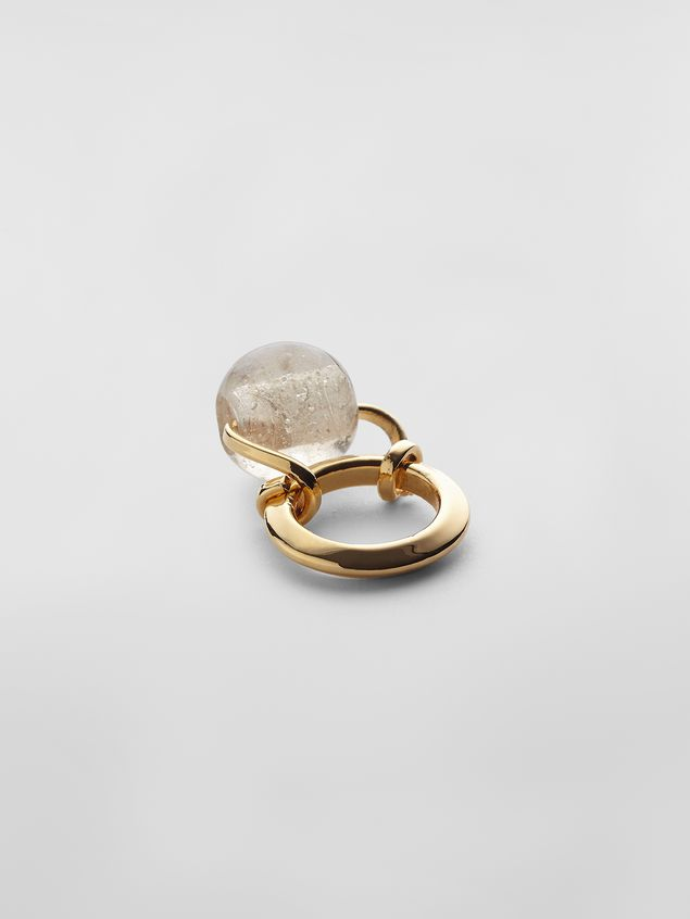 Marni Ring in brass and glass Woman - 3