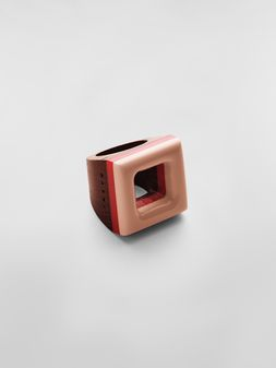 Marni Ring in resin and wood Woman
