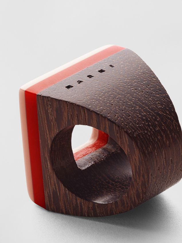 Marni Ring in resin and wood Woman - 4