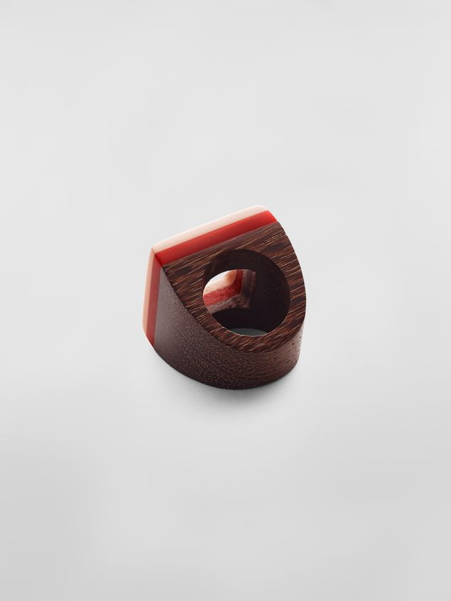 Marni Ring in resin and wood Woman - 3