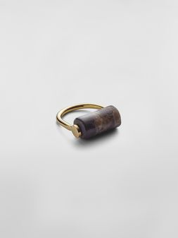 Marni Ring in brass and marble Woman