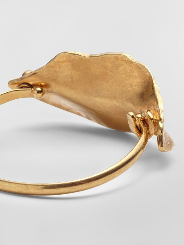 Marni Leaf bangle in metal Woman - 3