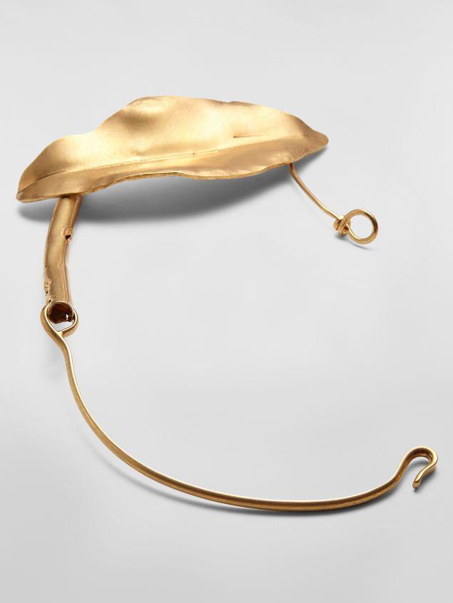 Marni NATURE leaf chocker in gold-tone metal Woman - 3