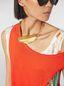 Marni NATURE leaf chocker in gold-tone metal Woman - 2