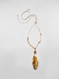 Marni NATURE leaf chocker in gold-tone metal Woman