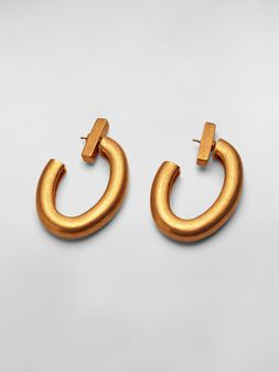 Marni Oval NATURE screw earrings in gold-tone metal  Woman