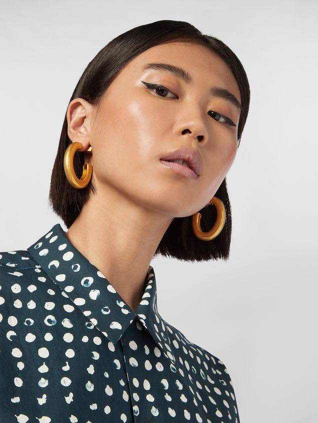 Marni Oval NATURE screw earrings in gold-tone metal  Woman - 2