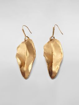 Marni Leaf NATURE hook earrings in gold-tone metal  Woman