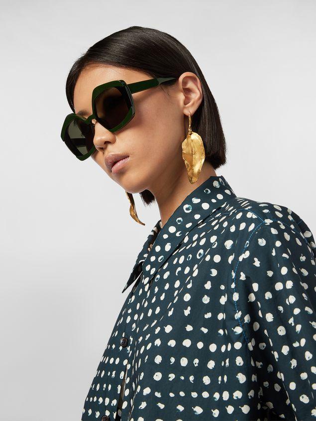 Marni Leaf NATURE hook earrings in gold-tone metal  Woman - 2