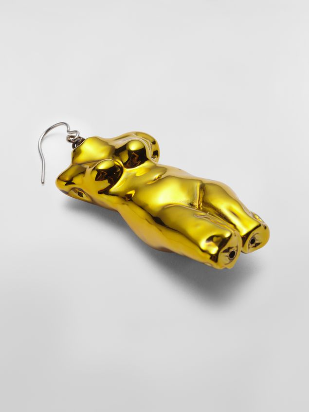 Marni Statue POP hook earring in metal  Woman - 4