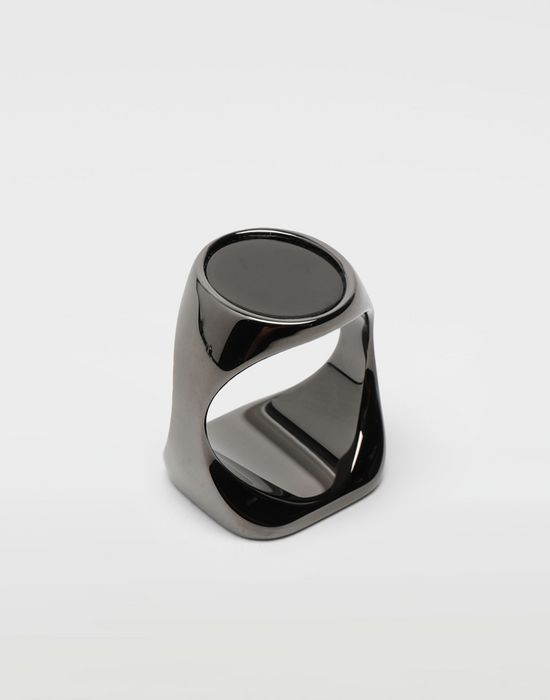MAISON MARGIELA Chevalier black ring Ring [*** pickupInStoreShippingNotGuaranteed_info ***] r