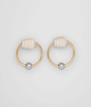 EARRING IN STERLING SILVER AND BONE