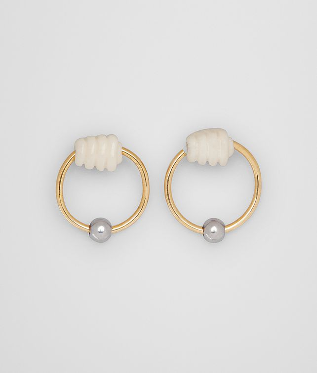 BOTTEGA VENETA EARRING IN STERLING SILVER AND BONE Earrings [*** pickupInStoreShipping_info ***] fp