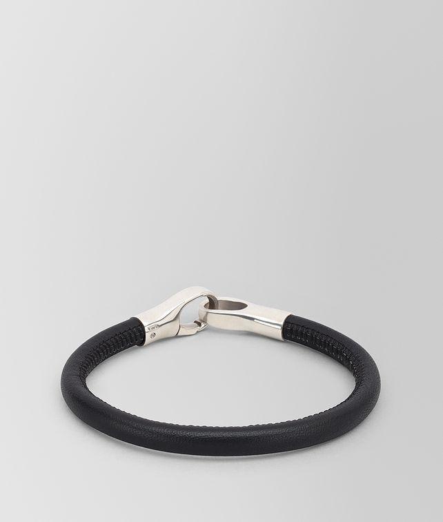 BOTTEGA VENETA BRACELET IN NAPPA AND STERLING SILVER Bracelet Man fp