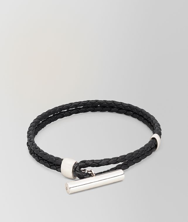 BOTTEGA VENETA BRACELET IN INTRECCIATO NAPPA AND STERLING SILVER Bracelet [*** pickupInStoreShippingNotGuaranteed_info ***] fp