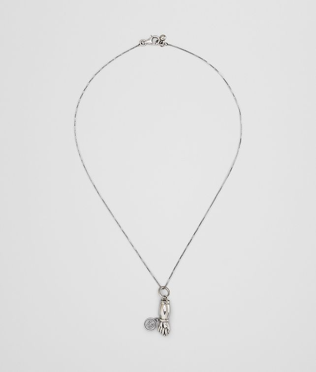 BOTTEGA VENETA CHARM NECKLACE IN STERLING SILVER Necklace Woman fp