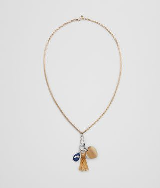 CHARM NECKLACE IN STERLING SILVER, ZIRCONIA, AGATE AND ENAMEL