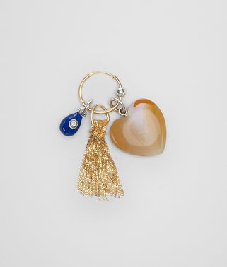 EARRING IN STERLING SILVER, ZIRCONIA, AGATE AND ENAMEL