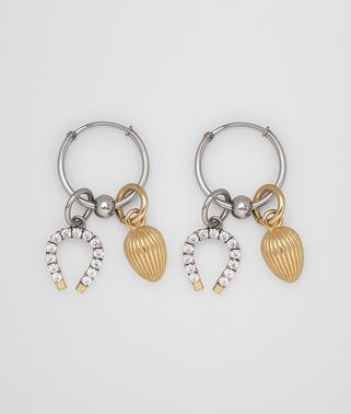 EARRING IN STERLING SILVER AND ZIRCONIA