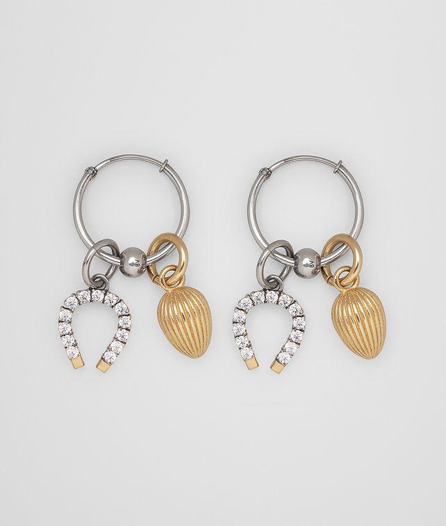 BOTTEGA VENETA EARRING IN STERLING SILVER AND ZIRCONIA Earrings Woman fp