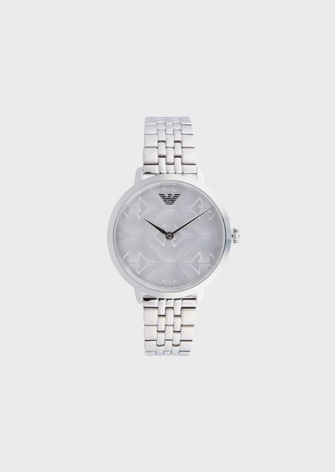 2f9076db39b3 Woman two-hands stainless steel watch