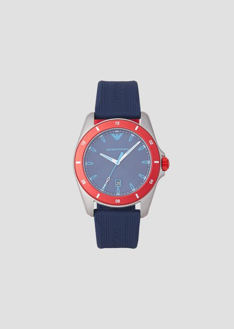 41e3dbe7bd9dd Man three-hands silicone watch