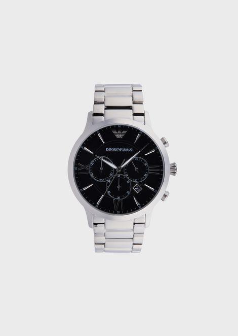 dd8cc1a6a04 Montre chronographe en acier inoxydable pour homme