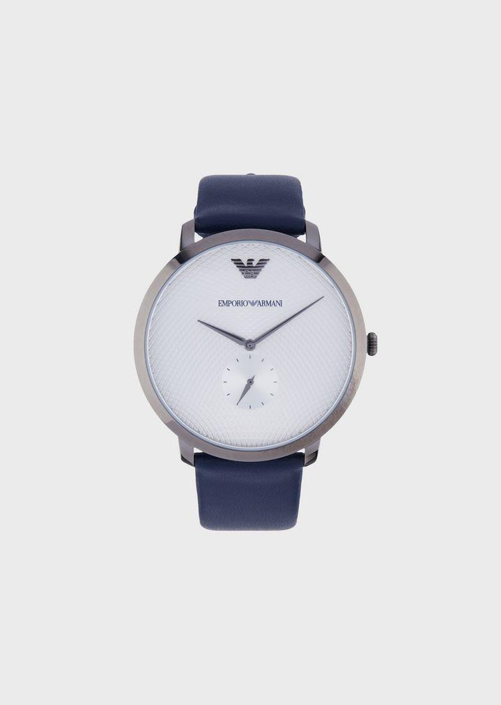 b404efce1d78 Reloj de piel con tres manecillas para hombre