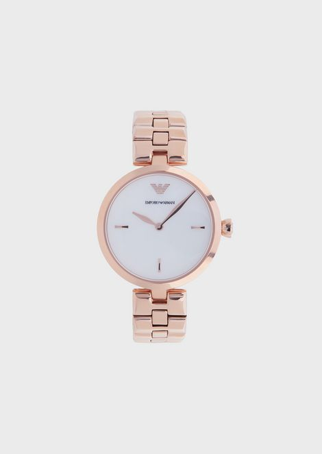 ec279f8ec3e3 Woman two-hands stainless steel watch