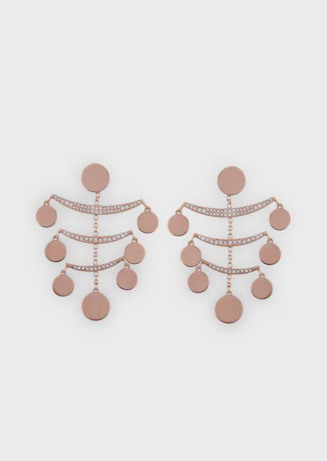 Woman stainless steel earrings