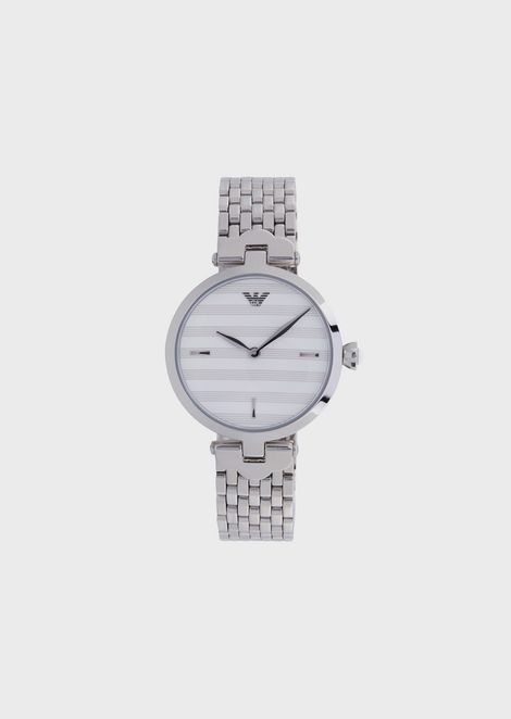 119d148af997 Woman two-hands stainless steel watch