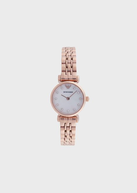 Woman two-hand stainless steel watch