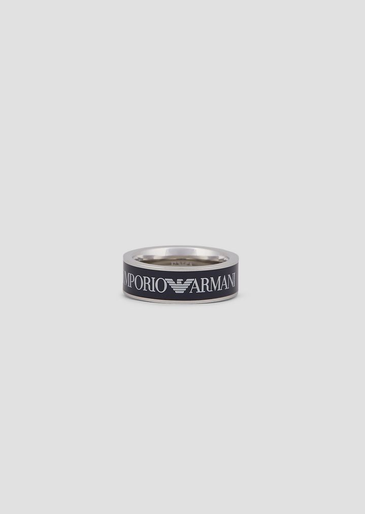 9a593f16ba Man stainless steel ring | Man | Emporio Armani