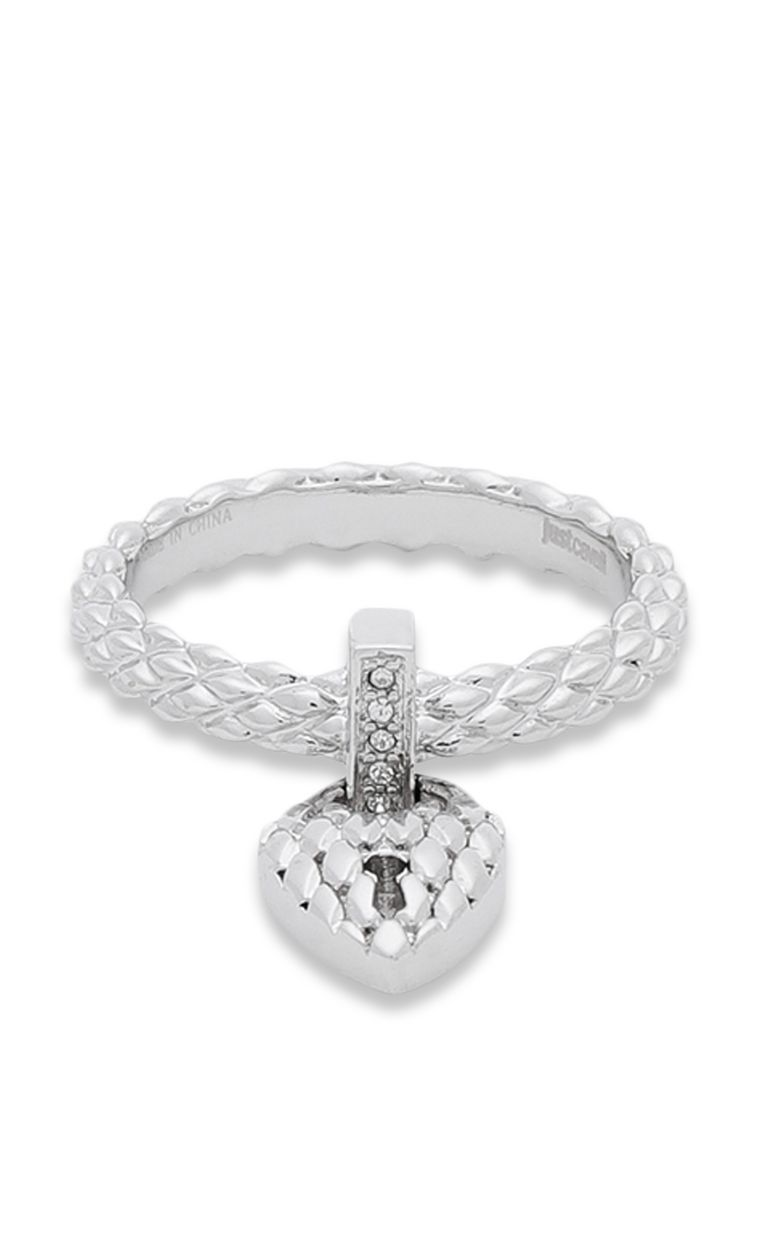 JUST CAVALLI Ring with heart pendant Ring Woman r