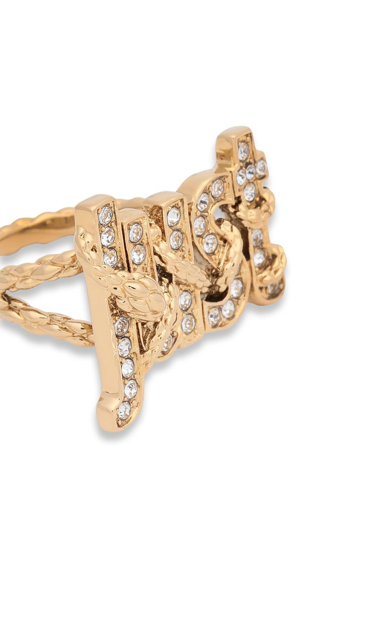 JUST CAVALLI Ring with JUST logo Ring Woman e