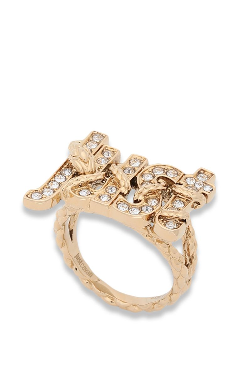 JUST CAVALLI Ring with JUST logo Ring Woman f