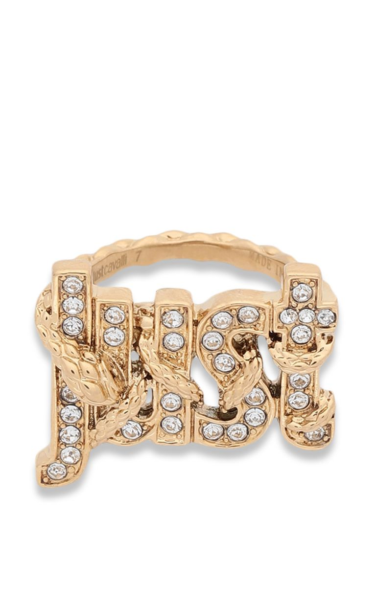 JUST CAVALLI Ring with JUST logo Ring Woman r
