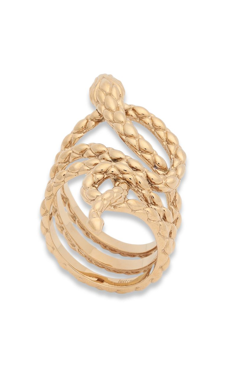 JUST CAVALLI Ring with stylised snake Ring Woman f