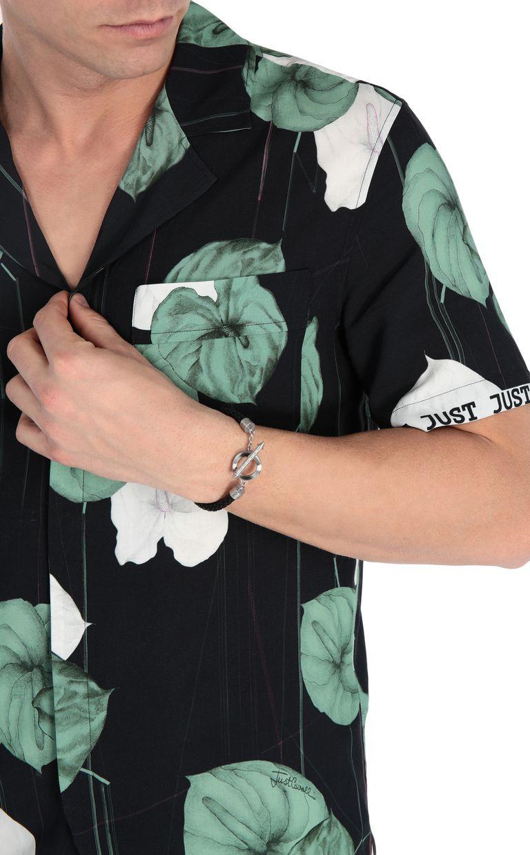 JUST CAVALLI Bracelet in black jute Bracelet Man d