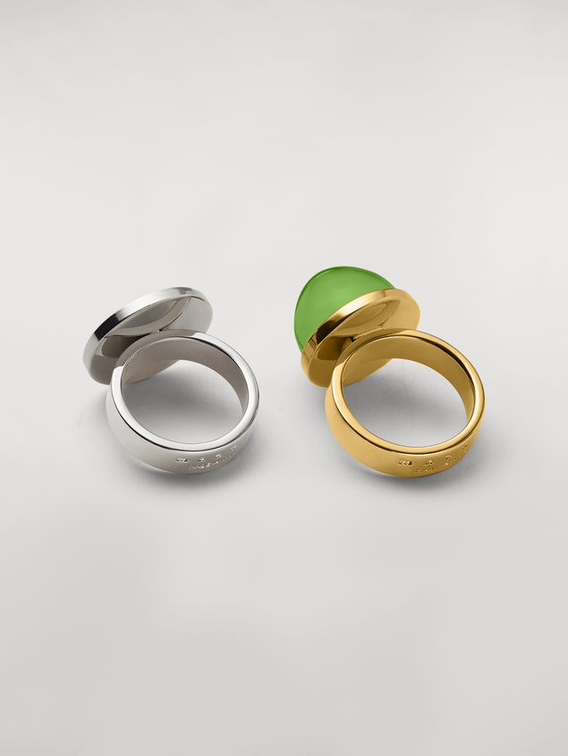 Marni MOD theme set of two sphere and disk metal and resin rings Woman - 3