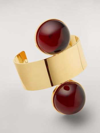 Marni Rigid MOD bracelet in metal and resin Woman f