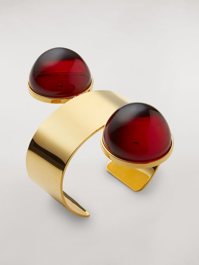 Marni Rigid MOD bracelet in metal and resin Woman - 3