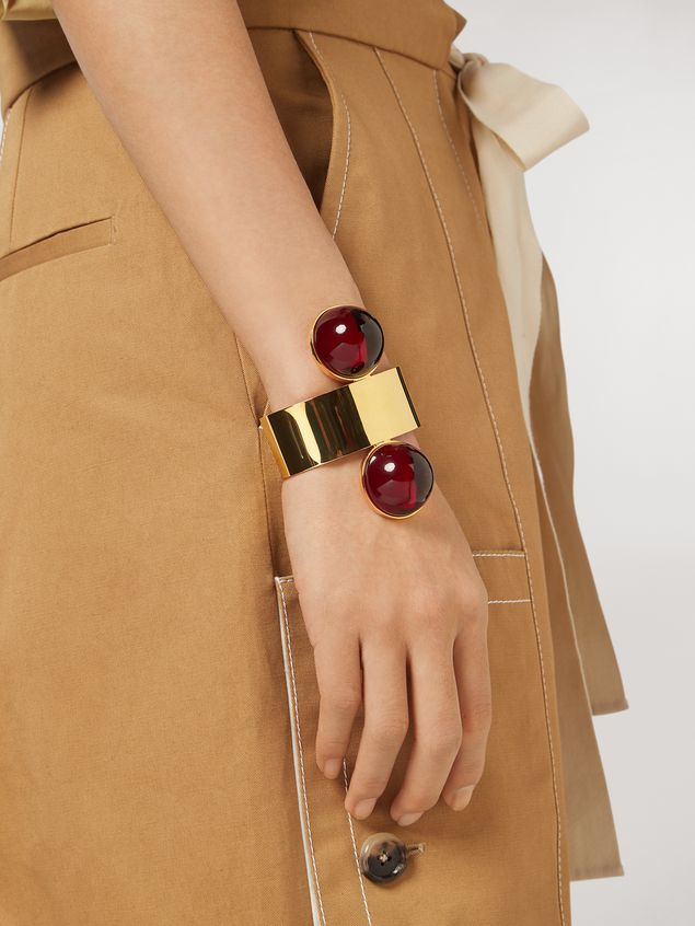 Marni Rigid MOD bracelet in metal and resin Woman - 2