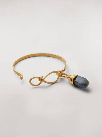 Marni Rigid STONES bracelet in metal and stone Woman