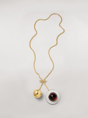 Marni MOD necklace in metal and resin Woman f