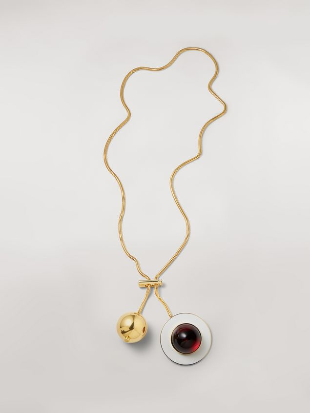 Marni MOD necklace in metal and resin Woman - 1